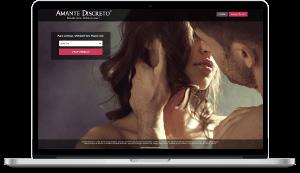 site amante discreto no computador