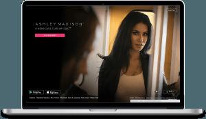 página de cadastro do AshleyMadison no computador