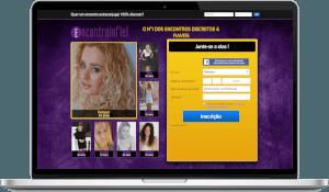 página de acesso do encontro infiel