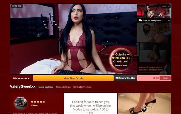 transmissão ao vivo com modelo no site de webcams live jasmim