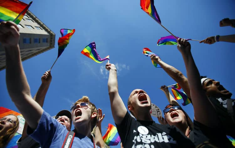 manifestaçao de homossexuais na luta pelos seus direitos