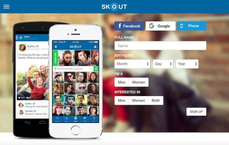 aplicativo skout