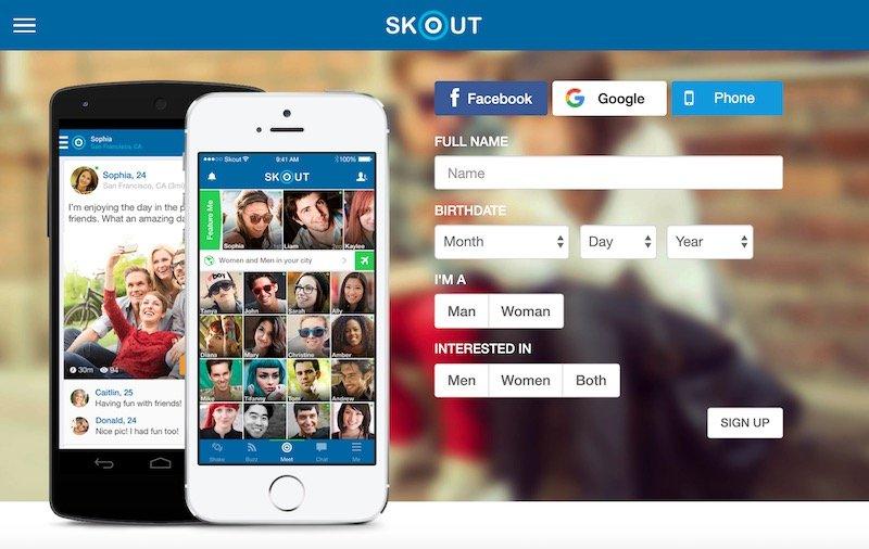 O Skout pode ser usado para fazer novos contatos
